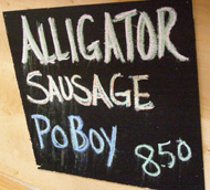 Alligator Poboy - French Market Farmer's Market - New Orleans, LA - Photo by Luxury Experience