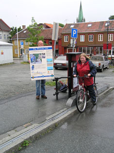 Trondheim bicycle lift