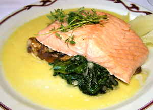 Poached Salmon at Theatercafeen