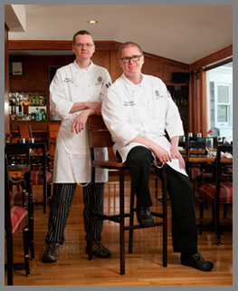 Chef Michael Wiechec and Executive Chef William Benner of Black Point Inn - photo by Luxury Experience