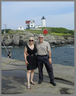 Debra and Edward at Nubble LIght - photo by Luxury Experience