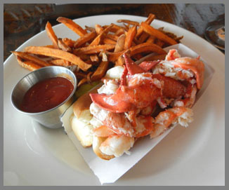 Lobster Roll, The Chart Room, Black Point Inn, Prouts Neck, Maine- photo by Luxury Experience