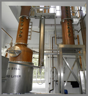 Maine Distilleries Copper Columns - photo by Luxury Experience