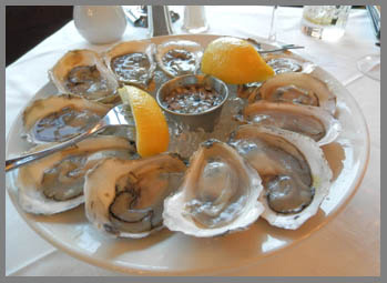 Oysters at The Point Restaurant, Black Point Inn, Prouts Neck, Maine- photo by Luxury Experience