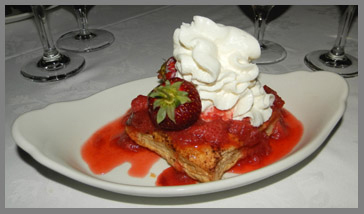 Strawberry Rhubarb at Black Point Inn, Prouts Neck, Maine - photo by Luxury Experience