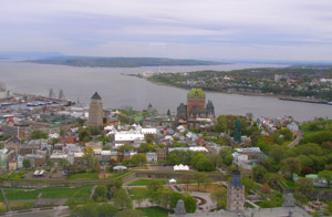 View of Quebec City, Canada from Observatoire de la Capitale - Photo by Luxury Experience