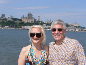 Debra and Edward on Quebec-Levis Ferry, Quebec, Canada - Photo by Luxury Experience