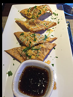 Lobster Wonton - Fresh Salt Restaurant - Saybrook Point Inn, Old Saybrook, CT - photo by Luxury Experience