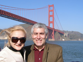 Debra and Edward with Golden Gate Bridge