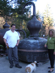 Marko, Snifter, and Susan Karakasevic of CHARBAY Winery & Distillery