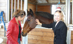 Mary Rocca and Debra Argen - Horses on Rocca Vineyards