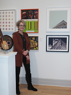 Artist Roz Dimon - Guild Hall - East Hampton, NYC - photo by Luxury Experience