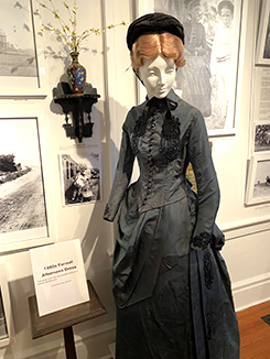 1880s Formal Afternoon Dress - Rogers Mansion - Southampton, NYC - photo by Luxury Experience