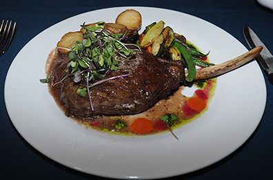 Double Veal Chop - Claude's Restaurant - Southampton, NYC - photo by Luxury Experience