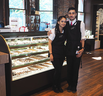 Anabel Dalmau, Jimmy Hidalgo Jr. - Kringle Emporium - MGM Springfield - photo by Luxury Experience