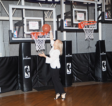 Debra C. Argen - Basketball Hall of Fame - photo by Luxury Experience