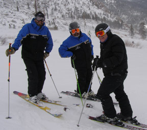 Danny Sullivan, Michael Fenton, Edward Nesta skiing Squaw Valley, Olympic Valley USA, CA - Photo by Luxury Experience