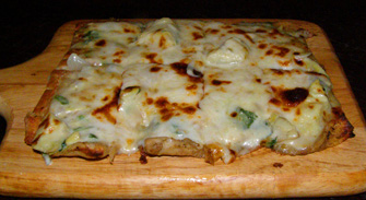 Rocker at Squaw - Spinach Flatbread - Photo by Luxury Experience