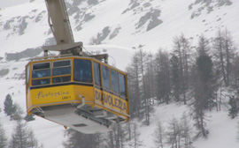 Cable Ride to Diavolezza