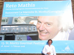 Chef Reto Mathis Promoting St. Mortiz Gourmet Festival