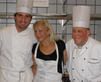 Debra at the Kitchen Party during St. Moritz Gourmet Festival