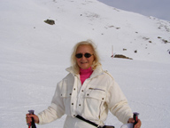Debra C. Argen on Corviglia Mountain, St. Moritz, Switzerland