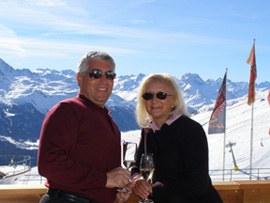 Edward F. Nesta and Debra C. Argen in St. Moritz, Switzerland