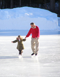 Skating in St. Moritz, Switzerland