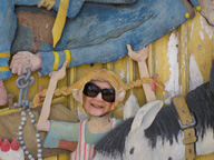 Debra C. Argen as Pippi Longstocking at Junibacken Musuem, Stockholm, Sweden