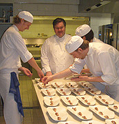 Mathias Dahlgren and his chefs of The Restaurant Mathias Dahlgren, Stockholm, Sweden