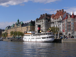 Strandvagen Residential area of Stockholm, Sweden