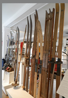 Antique Skis -Vermont Ski and Snowboard Museum, Stowe, VT, USA -photo by Luxury Experience