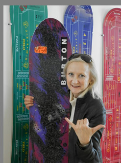 Debra Argen at --Vermont Ski and Snowboard Museum, Stowe, VT, USA -photo by Luxury Experience