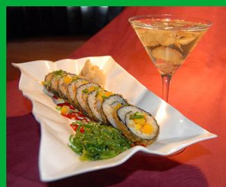 Spicy Duck Ninja Roll -Charlie B's Pub & Restaurant - Stowe, VT, USA