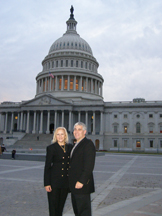 Debra C. Argen and Edward F. Nesta at the U.S. Capitol