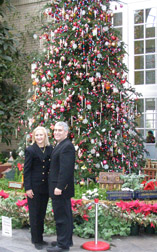 Debra C. Argen and Edward F. Nesta with Christmas Tree at US Botanical Gardens, Washington, DC, USA