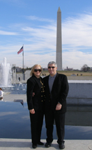 Debra C. Argen and Edward F. Nesta with Washington Memorial, Washington, DC, USA