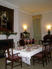 Dining Room set for Holidays at Woodrow Wilson House, Washington, DC, USA