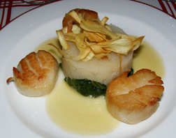 Scallops at The Jockey Club, The Fairfax at Embassy Row, Washington, DC, USA