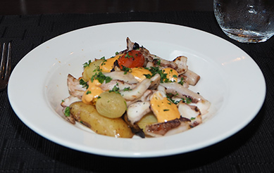 Grilled Octopus - Juniper Restaurant - photo by Luxury Experience