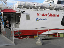 Taking the foot ferry to the Koster Islands