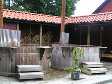 Wooden Hot Tubs at Thorskogs Slott