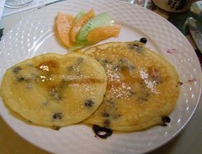 Blueberry Pancakes - The Notchland Inn, Hart's Locaiton, New Hampshire - photo by Luxury Experience