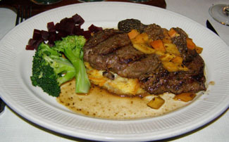 Buffalo Rib Eye, The 1785 Inn, New Hampshire - photo by Luxury Experience