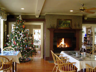 Dining Room at The Notchland Inn, New Hampshire - photo by Luxury Experience