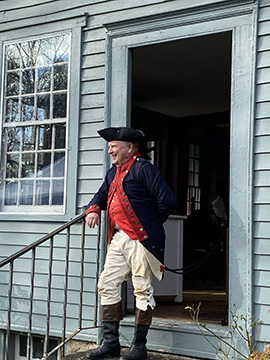 Glebe House - Jim Howson in Military Attire - Photo by Luxury Experience