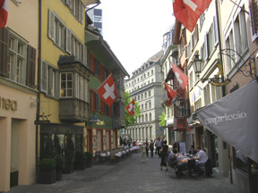 Narrow Streets in the Old City, Zurich, Switzerland