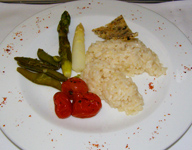 SWISS Business - Asparagus with Truffle Risotto