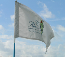 Golf Flag at The Abaco Club on Winding Bay