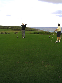 Golfing at The Abaco Club on Winding Bay
